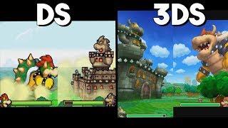 Mario & Luigi: Bowser's Inside Story 3DS vs. DS - Giant Battle Comparison