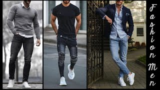 SUPER FASHION MEN'S OUTFITS WITH WHITE TENNIS/♂️/OUTFITS MASCULINOS SUPER FASHION CON TENIS BLANCOS