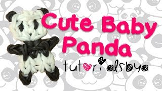 NEW Cute Baby Panda Rainbow Loom Charm/Figurine Tutorial