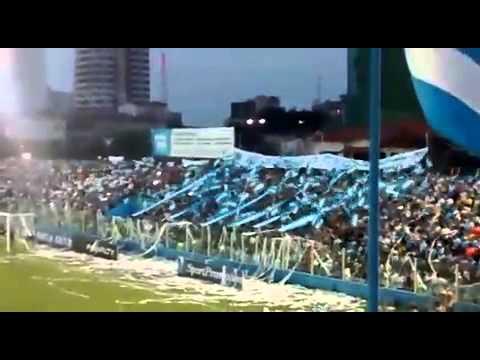 """""""BAC - Alma Celeste. Entrada do time em campo."""" Barra: Alma Celeste • Club: Paysandu"""