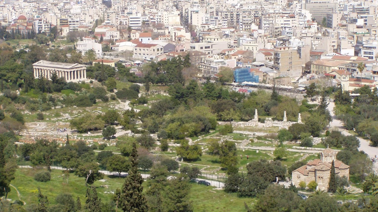 market hill, ancient agora of athens, agoraios kolonos, athens, greece