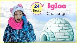 24 Hours IGLOO Challenge | #Fun #Europe #DIML #Vlog #MyMissAnand