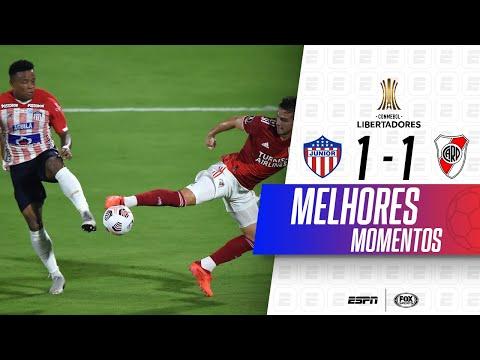 EMPATE NO ÚLTIMO MINUTO! Melhores momentos de Junior 1 x 1 River Plate na Libertadores