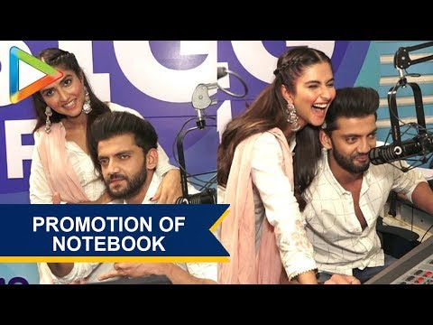 Zaheer Iqbal and Pranutan Bahl Promoting their Upcoming Film Notebook at Big FM