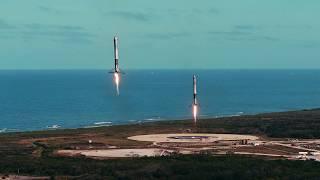 Mais um vídeo do Falcon Heavy