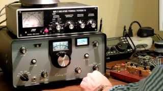Ten-Tec Century-21 Transceiver CW QSO (Morse Code)