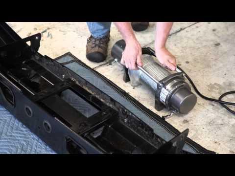 Installing the WARN Mid-Frame Winch into an ARB Bull Bar Bumper