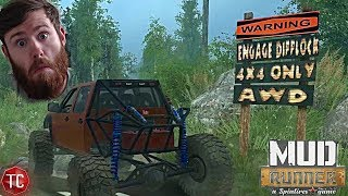 SpinTires MudRunner Mods: NEW MAP! Wyre Woods Crawling Map! Realistic Obstacles! NO WINCH