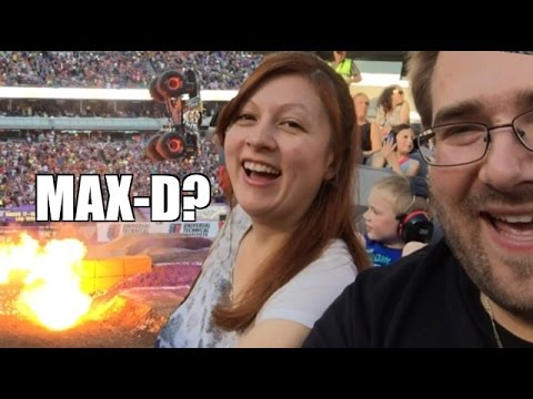 WIFE Likes MAX-D Monster Jam! Grim's EPIC REACTION to Front Flip