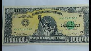 FAKE ONE MILLION DOLLARS BILL/NOTE MONEY CONVERSION (PICS)