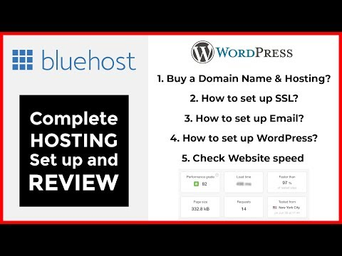 BlueHost Shared Hosting Review in 2018 | How to buy domain & hosting | Setup SSL, Email & Speed Test