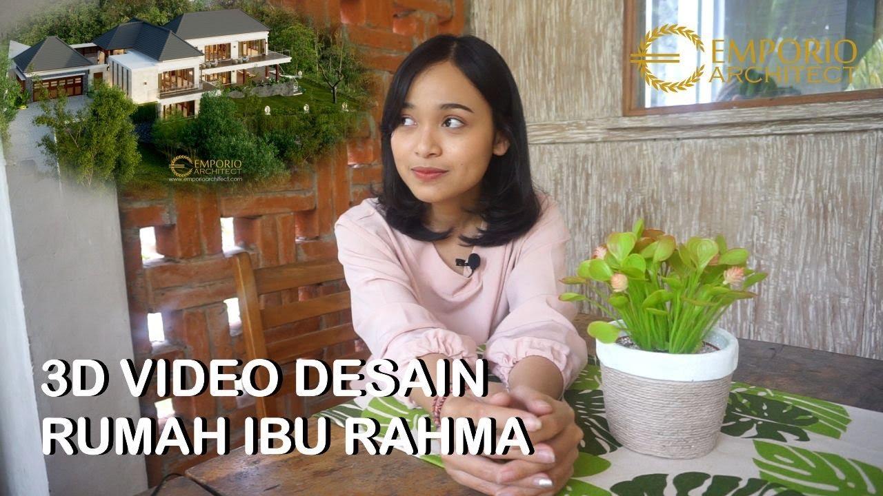 Video 3D Desain Rumah Villa Bali 2 Lantai Ibu Rahma di Sumedang, Jawa Barat