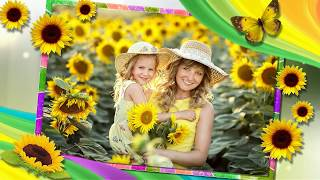 Подсолнухи#Sunflowers# Free project Proshow Producer