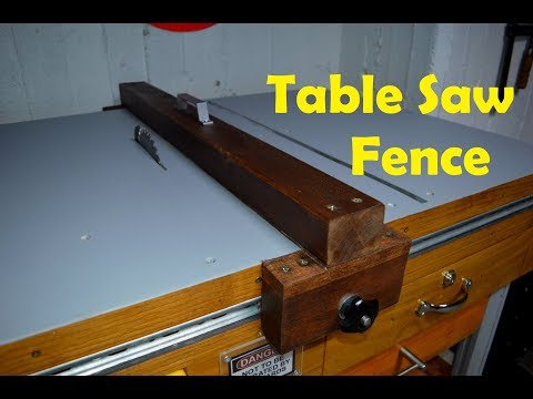 DIY Table Saw Fence for Homemade Table Saw