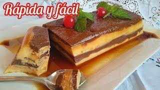 Cómo Hacer Tarta Flan De Chocolate Y Galletas | El Dulce Paladar