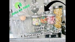 Dollar Tree Glam Christmas Candy Jars DIY