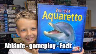 Aquaretto - Nachfolger von Zooloretto (Abacusspiele) - Abläufe + gameplay + Fazit