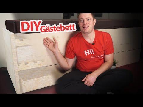 Platzsparendes Gästebett bauen für ein oder zwei Personen 👷 DIY