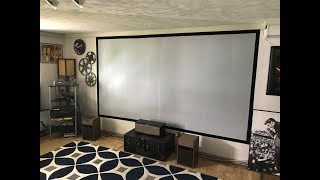 DIY painted movie projection screen with Epson projector