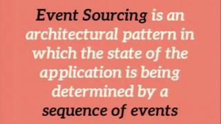 Building microservices with event sourcing and CQRS