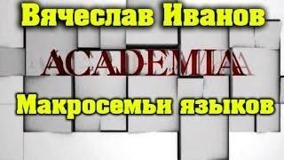 Макросемьи языков / Вячеслав Иванов