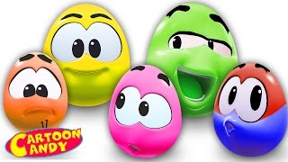Play With Surprise Eggs   WonderBalls   Cartoons For Children    Cartoon Candy