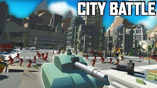 HUGE CITY BATTLE!  Best NEW Map in Ravenfield! (Ravenfield Gameplay New Custom Map)