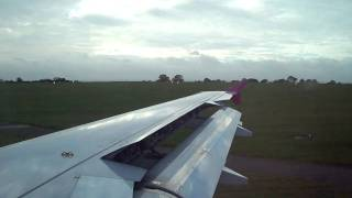 preview picture of video 'Wizzair Airbus A320 Take Off @ London Luton Airport on 12.11.2010 (FLIGHT W6 502) HD'
