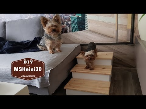 DIY - Hundetreppe bauen für meine Yorkshire Terrier  -  Dog Stairs for my Yorkshire Terrier