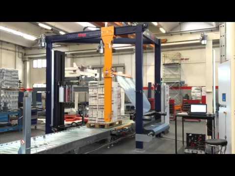 Fasciapallet automatico a piattaforma rotante con copertura superiore P60E - Tissue | Technowrapp