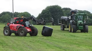 Silage 2020 - Collecting Bales With John Deere & NEW Manitou