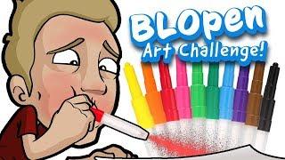 BLOPEN Art Challenge   EPIC Art With Children's Stationary!