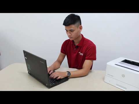 Hướng dẫn cài đặt kết nối mạng máy in HP M404dn
