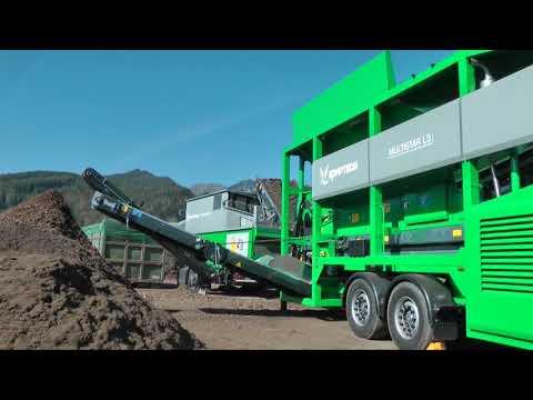 Komptech Stonefex 3000 Stone Separator Cleaning Woody Biomass
