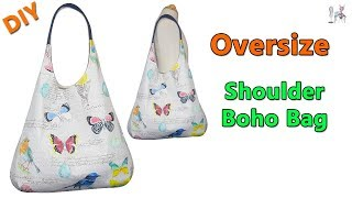 DIY OVERSIZE SHOULDER BOHO BAG | BOHO BAG | DIY BAG | SHOULDER BAG | BAG MAKING TUTORIAL