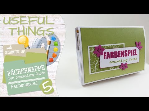 Fächermappe Farbenspiel mit Stampin' Up | Useful Things #05