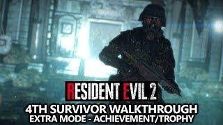 Resident Evil 2 - 4th Survivor Walkthrough - Grim Reaper Achievement/Trophy Guide - Extra Mode