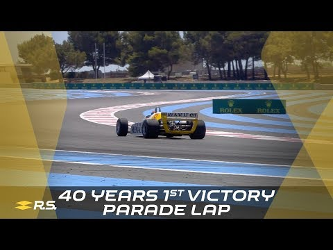 40 Years first F1 Victory - Jabouille Parade