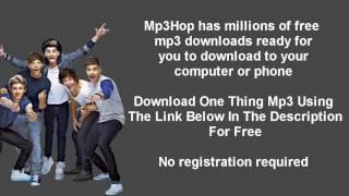 Gambar cover One Direction One Thing Mp3 Download