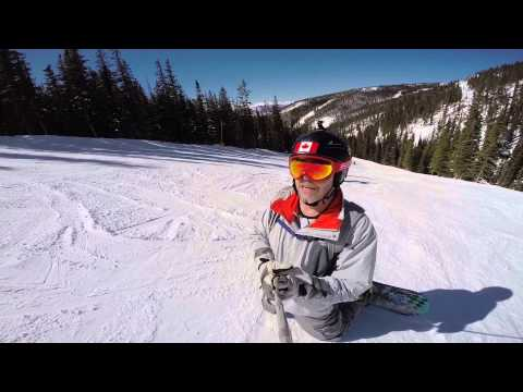 Dr. Anderson snowboarding in Keystone, Colorado, 03/07/15. GoPro Hero video camera.