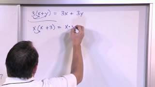 The Distributive Property In Algebra