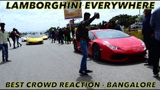 Taking Hayabusa to Lamborghini Bangalore event | Best Crowd reaction | Bangalore reaction - 52
