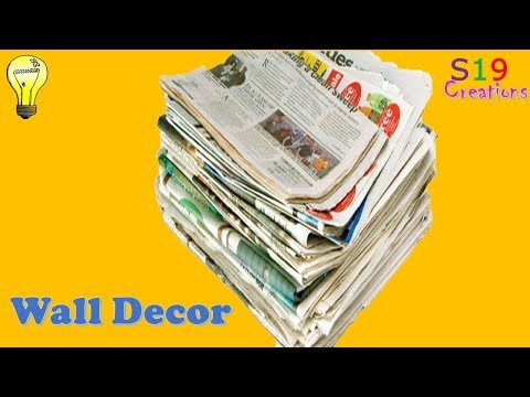 Newspaper Craft Ideas Easy Wall Decor Idea Best Out Of Waste