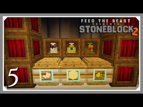 FTB Stoneblock 2 | Flight & Chicken Breeding & Yabba Barrels! | E05 (FTB Stoneblock 2 Let's Play)