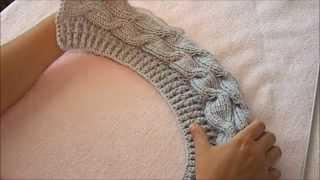 Женская осенняя шапка ( верхняя часть)