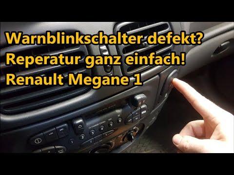 Warnblinkschalter defekt? Reparatur ganz einfach! | Renault Megane1