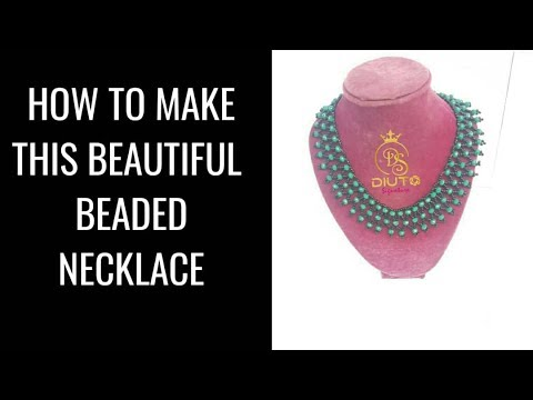 Bead tutorial / How to make this beautiful beaded necklace