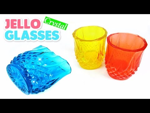 Video DIY Crystal Jello Glasses! Jewelry Gummy Cups Recipe