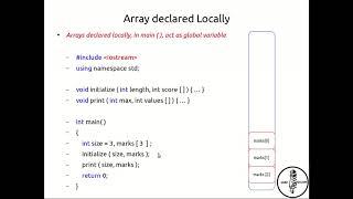 8: Using arrays as global variables (C++) - Easy