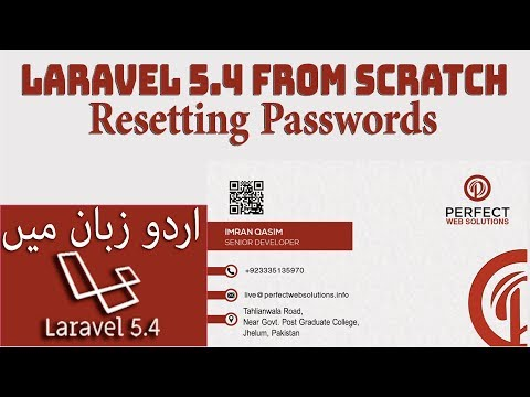 Laravel 5.4 Tutorial for Beginners Part 21: how to use laravel reset password in hindi urdu 2017